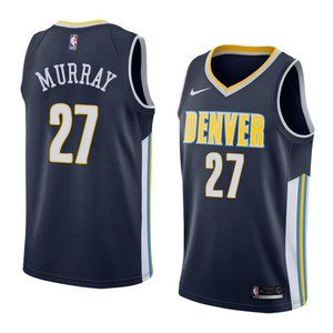 Denver Nuggets Jamal Murray Navy Jersey 1